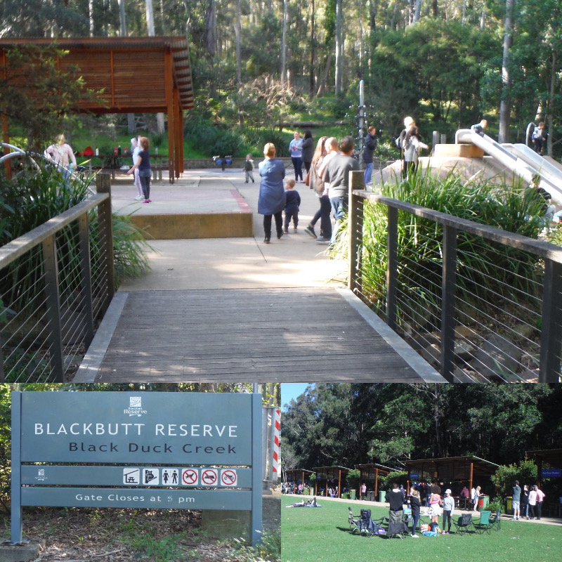 A wooden foot bridge into Blackout reserve on the Newcastle NSW Nature Tour